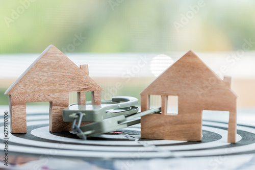 Ideas for real estate business fraud, financial risk or debt default, lacking financial freedom until being indebted and imprisoned Canvas Print