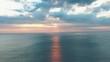 Beautiful Sunset on Jimbaran beach on Bali island. Aerial video from the drone.