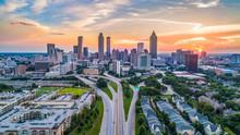Atlanta, Georgia, USA Skyline Aerial Panorama