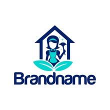 Home Maid Leaf Logo