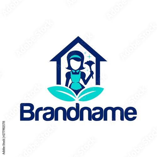 Obraz na plátně Home Maid Leaf Logo