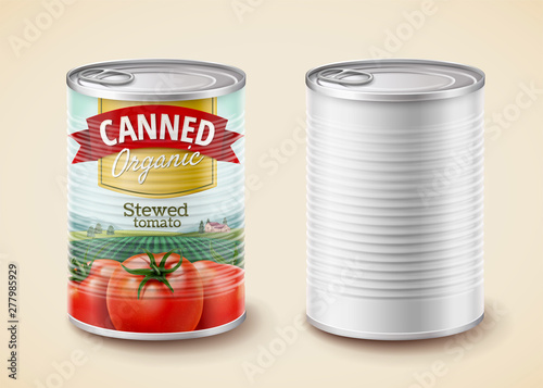 Photo  Canned stewed tomato package
