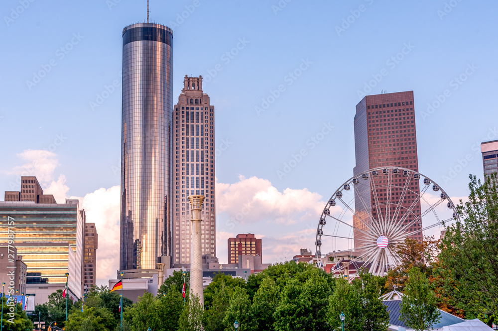 Fototapety, obrazy: Sunset in Atlanta at Centennial Olympic Park