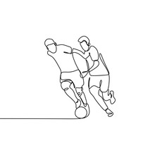 Continuous Line Drawing Of Run...