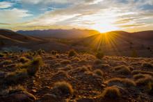 Sunburst Sunset At Hucks Looko...