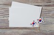 happy independence day South Korea. 15 Aug. the concept of freedom, independence and patriotism. mini flags with sheets of white paper on wooden background. horizontal