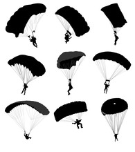Big Collection Of Parachutists...
