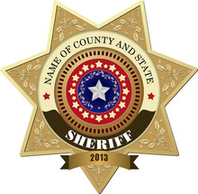 Sheriff's Badge On A White Bac...