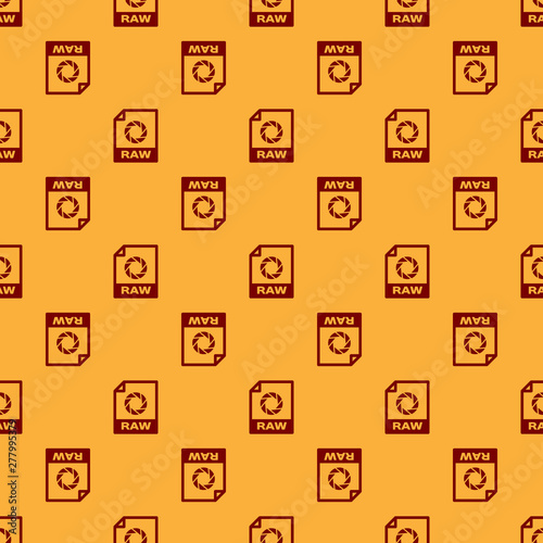 Red RAW file document icon  Download raw button icon