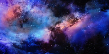 Star And Nebular And Galaxy Background