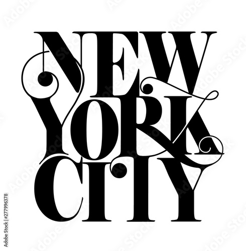 New York City text design