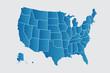 Vector USA map