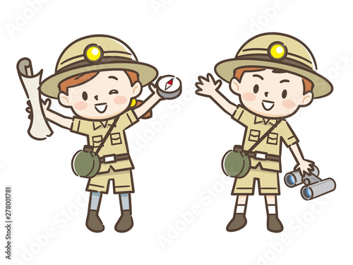 冒険家の子供たち Fototapeta