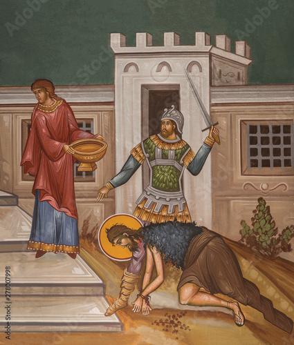 John the Baptist being beheaded Wallpaper Mural