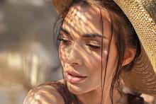 Portrait Of Beauty Girl In Sum...