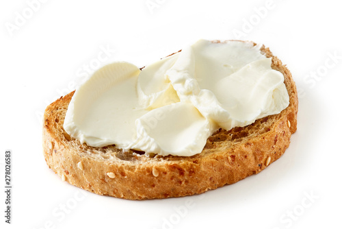 Poster Snack toasted bread with cream cheese