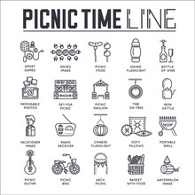 Set Of Picnic Time, Barbeque T...