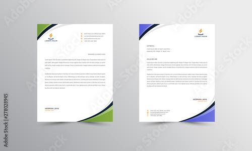 Fototapeta Abtract Letterhead Design Modern Business Letterhead Design Template - vector obraz