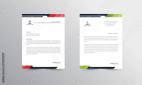 Fototapeta Abtract Letterhead Design Modern Business Letterhead Design Template - vector obraz