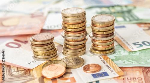 Photo Münzgeld und Geldscheine