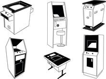 Arcade Machine Cabinet Nintendo