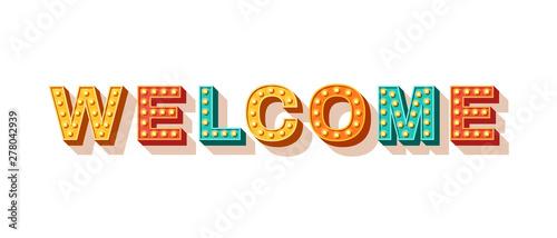 Welcome typography design Fototapet