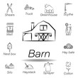 barn hand draw icon. Element of farming illustration icons. Signs and symbols can be used for web, logo, mobile app, UI, UX