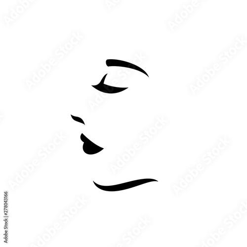 Fotografie, Obraz  Woman face logo design