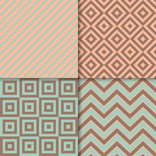 Classic Geometric Patterns Vector Set. Textile Fabric Prints, Geometric Backgrounds