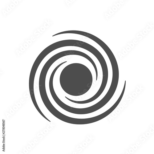 Photographie space black hole vector icon isolated on white background