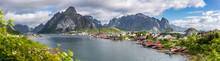 View Down To The Fishing Village Reine, Lofoten Islands, Norway