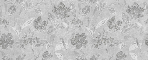 abstract floral gray background