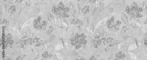 streszczenie-kwiatowy-szary-tlo-sztuka-kwiaty-wzor-tapeta