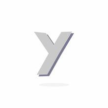 Vector Logo Letter Y Stone Rock