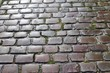Detailed close up view on cobblestone ground textures in high resolution