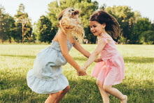 Image Of Two Little Girls Danc...