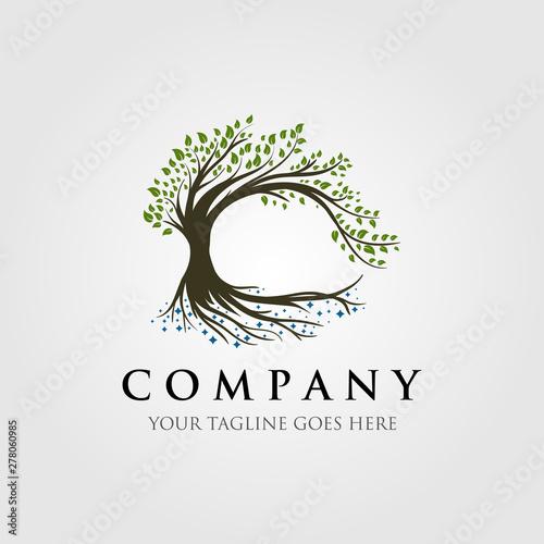 Fotografía tree logo illustration design