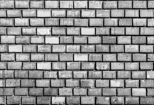Poster Baksteen muur pattern of old historic brick wall