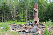 Chimney Remains After A Fire