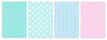 Polka Dot Pattern Vector. Baby Background.