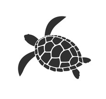 Sea Turtle Logo. Isolated Turt...