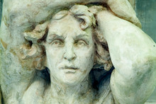 Fragment Of Ancient Statue Of Hercules As Symbol Of Power And Liberty