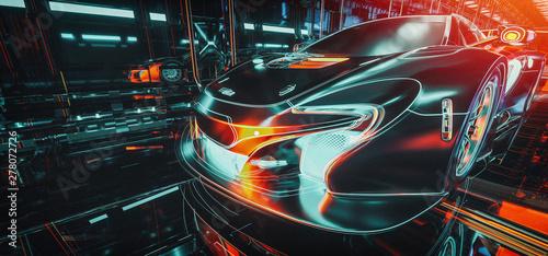 Obraz High Tech cars & Cyber. - fototapety do salonu