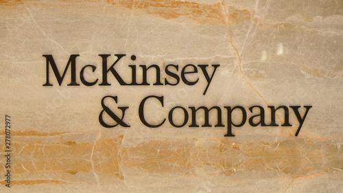 Fototapeta Mckinsey and Company Istanbul office entrance  obraz na płótnie