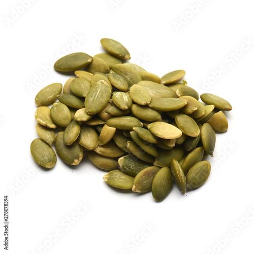 Obraz pumpkin seeds isolated pile - fototapety do salonu