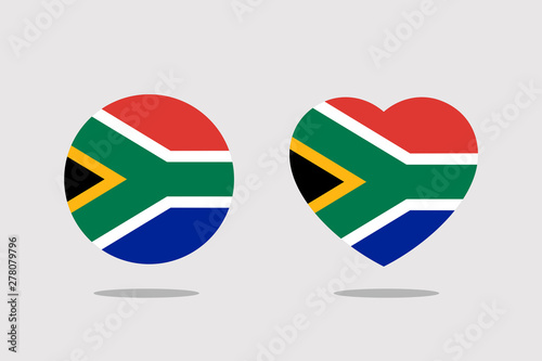 Fotografie, Obraz south africa Flag icon sign template color editable