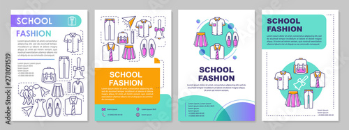 Fotografie, Obraz School uniform brochure template layout