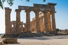 Temple Of Selinunte In Sicily