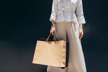 Unrecognisable Stylish Woman Holding Shopping Bags.