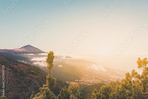 pico del teide, mountain above the clouds, Tenerife, Spain Obraz na płótnie
